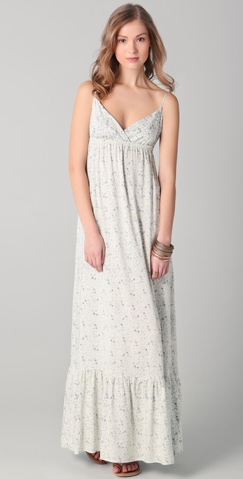 SOLOW Floral Challis Maxi Dress