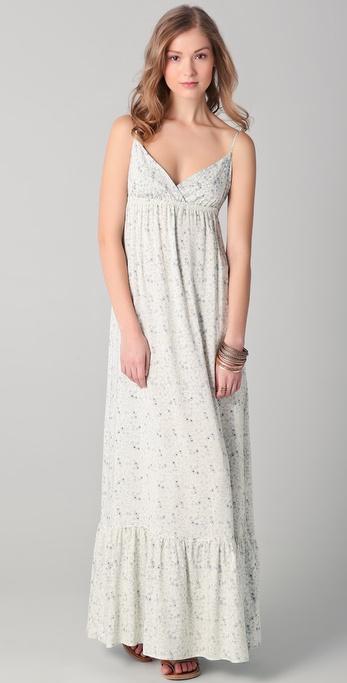 SOLOW Floral Challis Maxi Dress