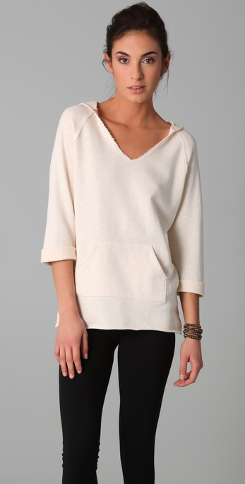 SOLOW Rolled Sleeves Hoodie