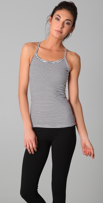 SOLOW So Low Sport Striped Racer Back Tank