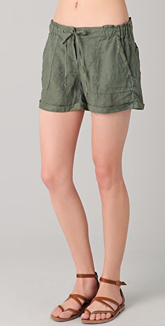 SOLOW Linen Cargo Shorts