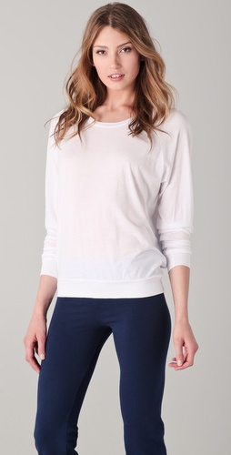 SOLOW Pullover with Mesh Elbow Patches