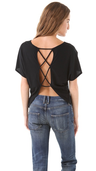 SOLOW Crisscross Back Top