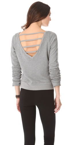 Shop So Low V Back Pullover with Thumbholes and So Low online - Apparel,Womens,Tops,Hoodies, online Store