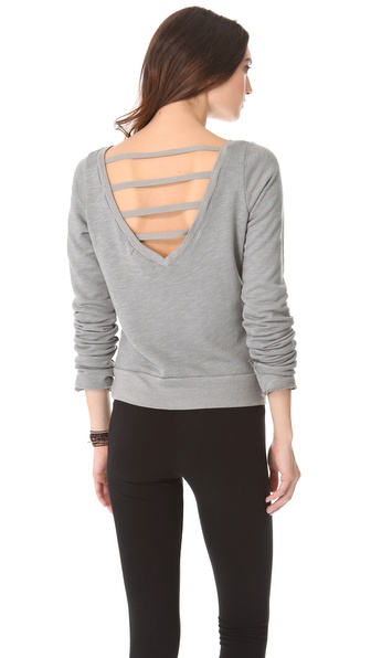 SOLOW V Back Pullover with Thumbholes