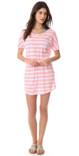 Shop So Low Neon Stripe Cover Up Dress - So Low online - Apparel,Womens,Swim,Coverups, at Lilychic Australian Clothes Online Store