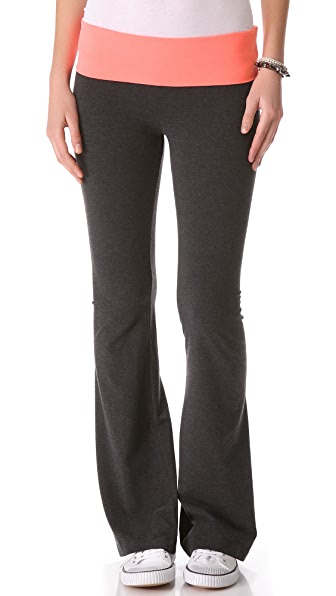 SOLOW Fold Over Boot Cut Pants