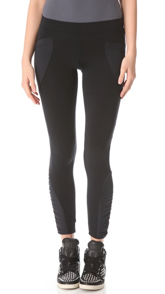 SOLOW Shirred Patch Leggings