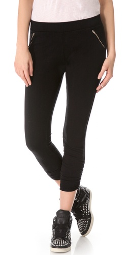 SOLOW Shirred Ankle Pants