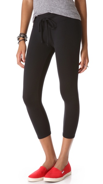 SOLOW Cropped Drawstring Leggings