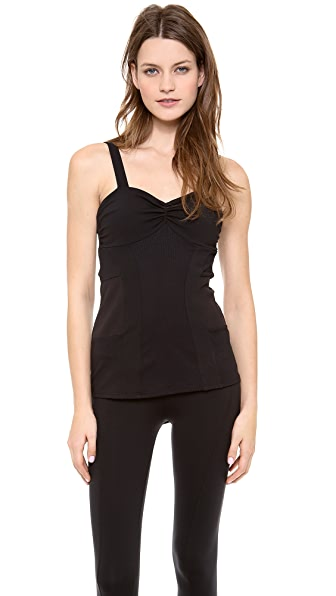 SOLOW Shirred Bodice Cami Top