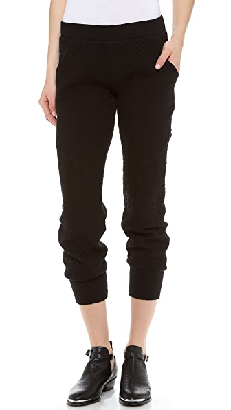 SOLOW Diamond Quilted Slouchy Pants