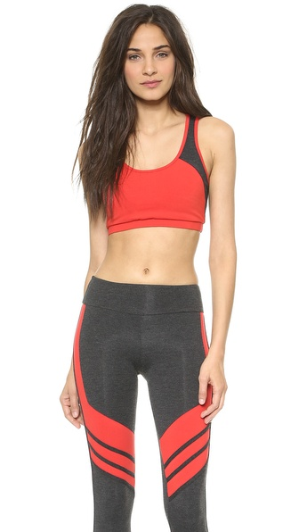 SOLOW Open Back Colorblock Sports Bra