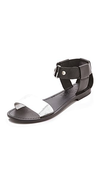 Sol Sana Erika Flat Sandals with Metallic Band