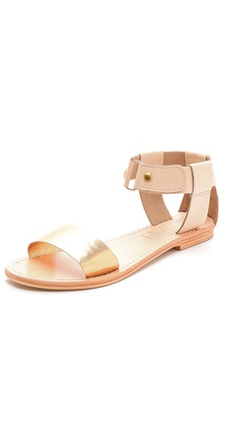 Sol Sana Erika Flat Sandals with Metallic Band at Shopbop / East Dane