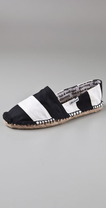 Soludos Barca Striped Espadrille Flats