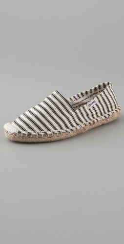 Soludos Calido Striped Flat Espadrilles