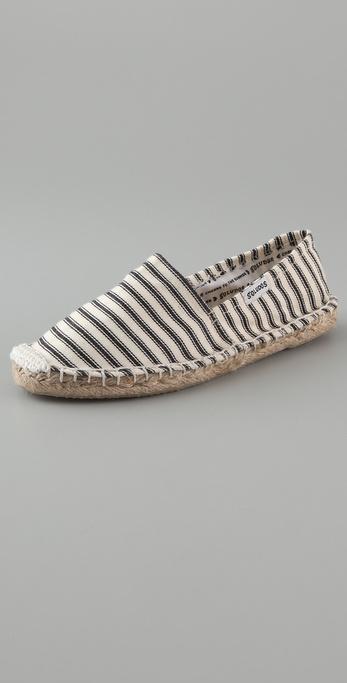 Soludos Calido Striped Flat Espadrilles