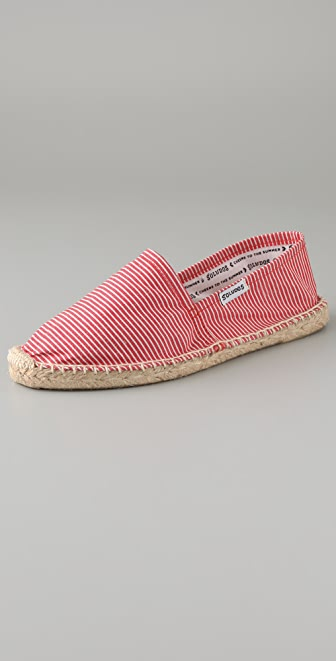Soludos Roso Striped Flat Espadrille