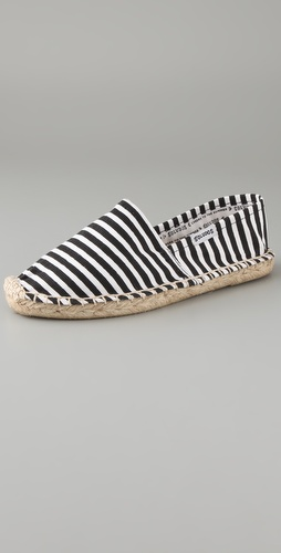 Soludos Costa Stripe Flat Espadrilles from shopbop.com