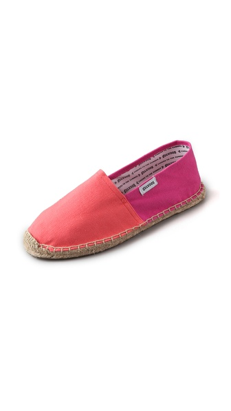 Soludos Boyas Two Tone Flat Espadrilles
