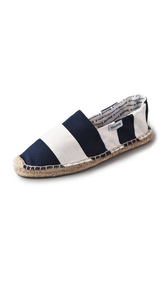 Soludos Barca Striped Flat Espadrilles