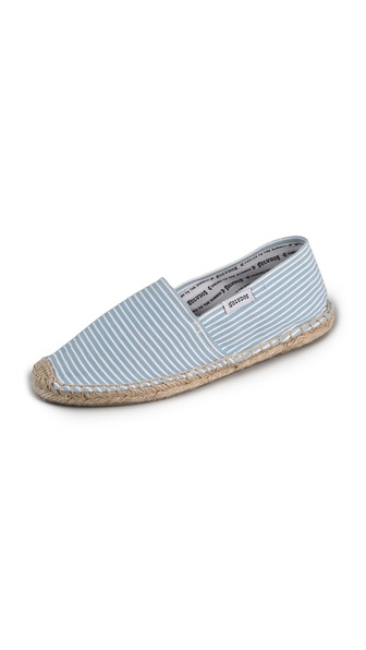 Soludos Woven Striped Flat Espadrilles