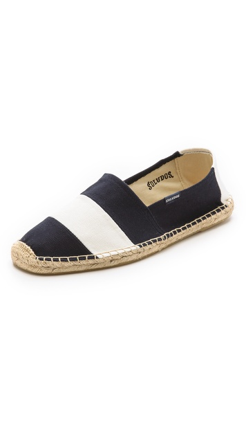 Soludos Barca Stripe Canvas Slip On Espadrilles