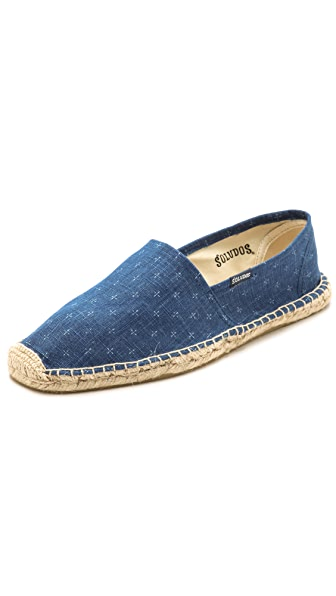 Soludos Linen Lil Crosses Slip On Espadrilles