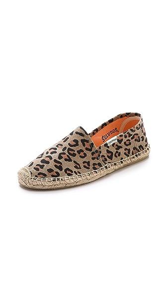Soludos Leopard Print Flat Espadrilles