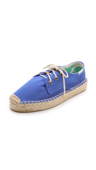 Soludos Canvas Platform Derby Flats - Klein Blue at Shopbop / East Dane