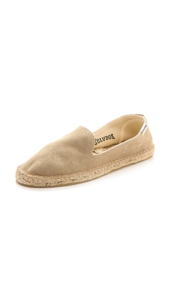 Kupi Soludos cipele online i raspordaja za kupiti Classic Soludos espadrilles get a luxe update in plush suede. Jute stitching. Braided sidewall. Textured rubber sole. Leather: Cowhide. Imported, China. This item cannot be gift boxed. Available sizes: 7,9,10
