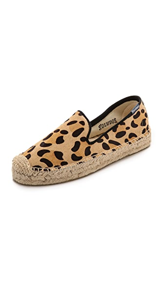 Soludos Soludos Platform Haircalf Smoking Slippers (Multicolor)