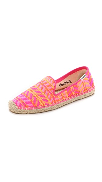 Shop Soludos online and buy Soludos Malhia Kent X Soludos Tweed Smoking Slipper Espadrilles Hot Pink Multi shoes online