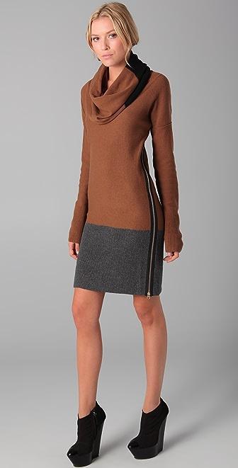 Sonia Rykiel Cowl Neck Sweater Dress