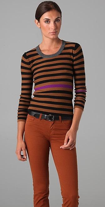 Sonia Rykiel Signature Striped Cashmere Sweater