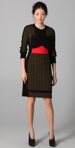 Sonia Rykiel Forest Rouge Sweater Dress