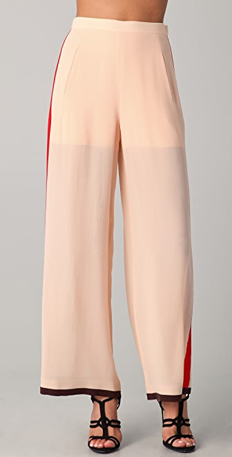 Sonia Rykiel Silk Wide Leg Pants