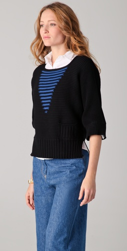 Sonia Rykiel Sweater with Contrast Stitching