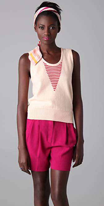Sonia Rykiel Striped V Tank