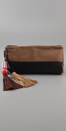 Sonia Rykiel Pompon Oversized Pochette