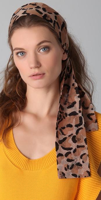 Sonia Rykiel Leopard Hair Scarf