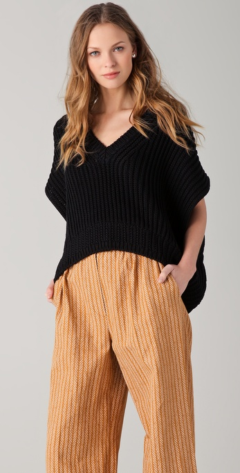 Sonia Rykiel V Neck Knit Top