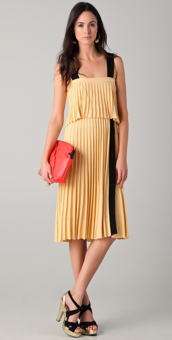 Sonia Rykiel Ribbed Dress with Contrast Straps