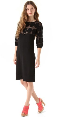 Sonia Rykiel Dot Top Knit Dress