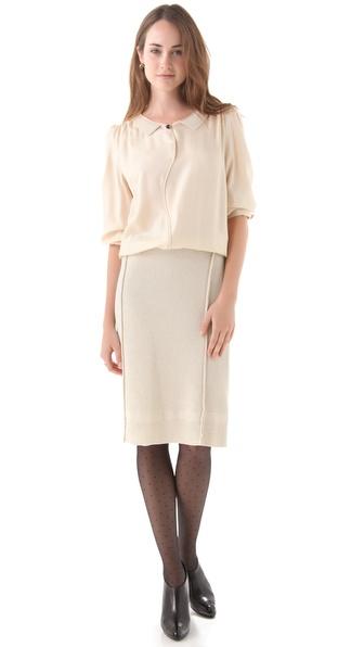 Sonia Rykiel Sateen & Knit Dress