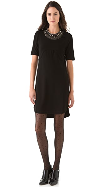Sonia Rykiel Seamed Jersey Mini Dress