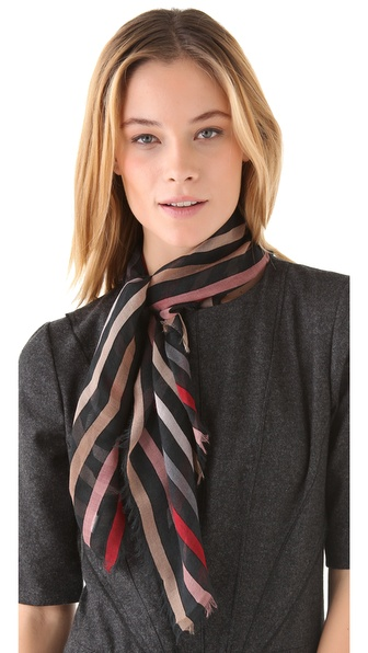 Sonia Rykiel Stripes Printed Scarf