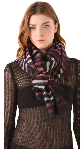 Sonia Rykiel Multicolor Striped Stole
