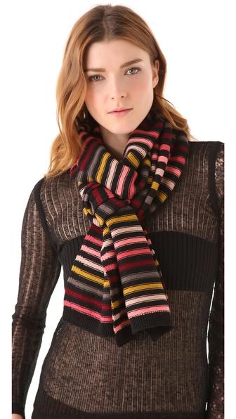 Sonia Rykiel Multicolor Stripes Scarf